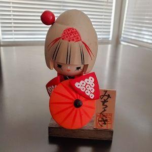 Vintage Japanese Michikusa Kokeshi Geisha Doll